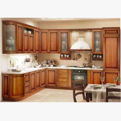 Wooden Kitchen Cabinet Hpd455 - Kitchen Cabinets - Al ...